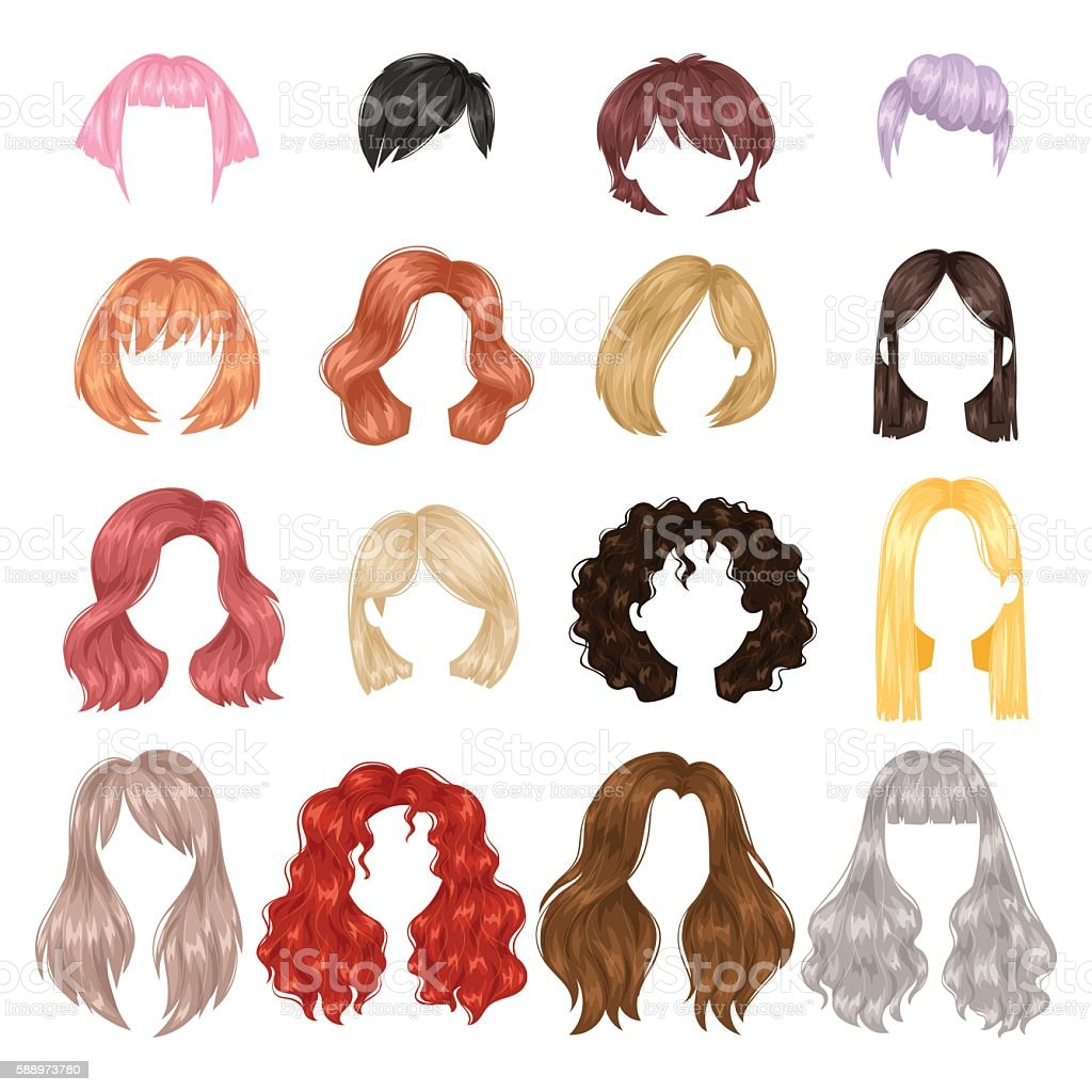 curly hair illustrations