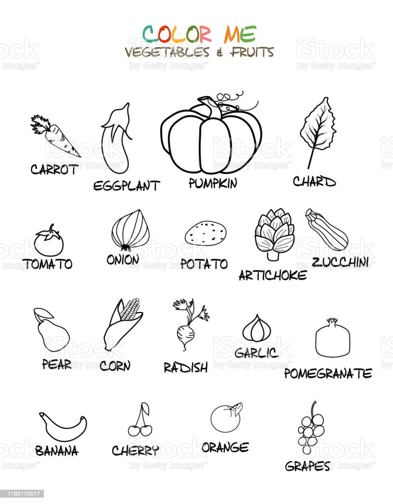 Coloring Pictures Of Fruits : coloring, pictures, fruits, Fruit, Coloring, Pages, Vector, Downloads)