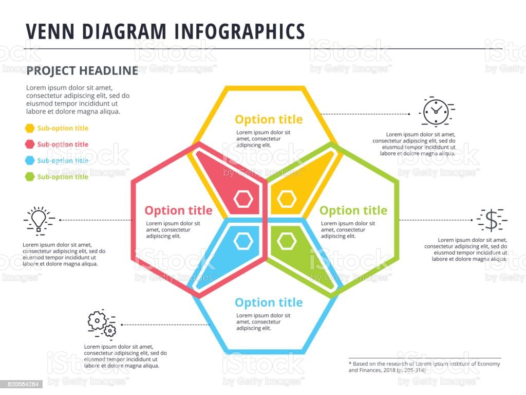 hight resolution of venn diagram with 4 circles infographics template design vector overlapping shapes for set or logic