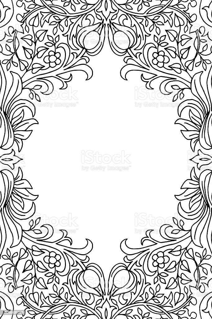 Victorian Flower Pattern Card Template stock vector art