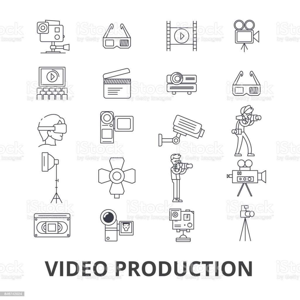 Video Production Camera Editing Film Cinema Movie Shoot