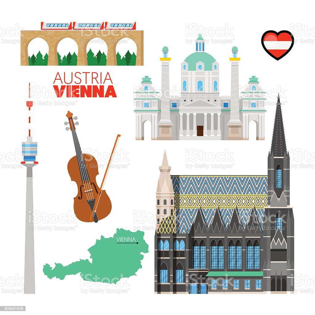 Royalty Free Vienna Austria Clip Art Vector Images