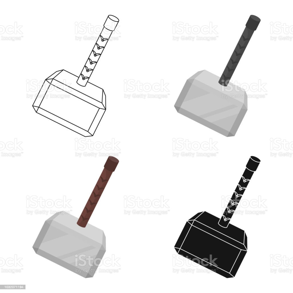 Royalty Free Thor Hammer Clip Art Vector Images