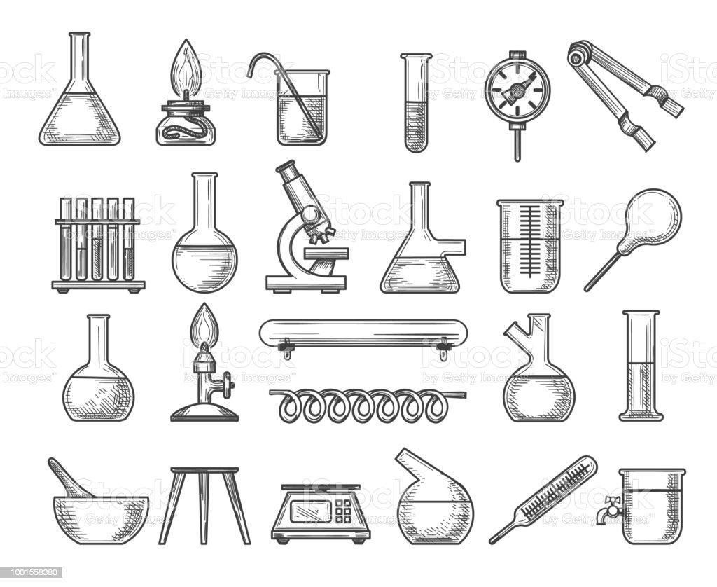 Ilustración de Laboratorio De Química Vintage y más