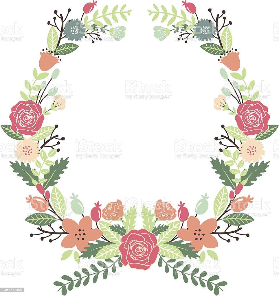 Flores Vintage Corona  Arte vectorial de stock y ms