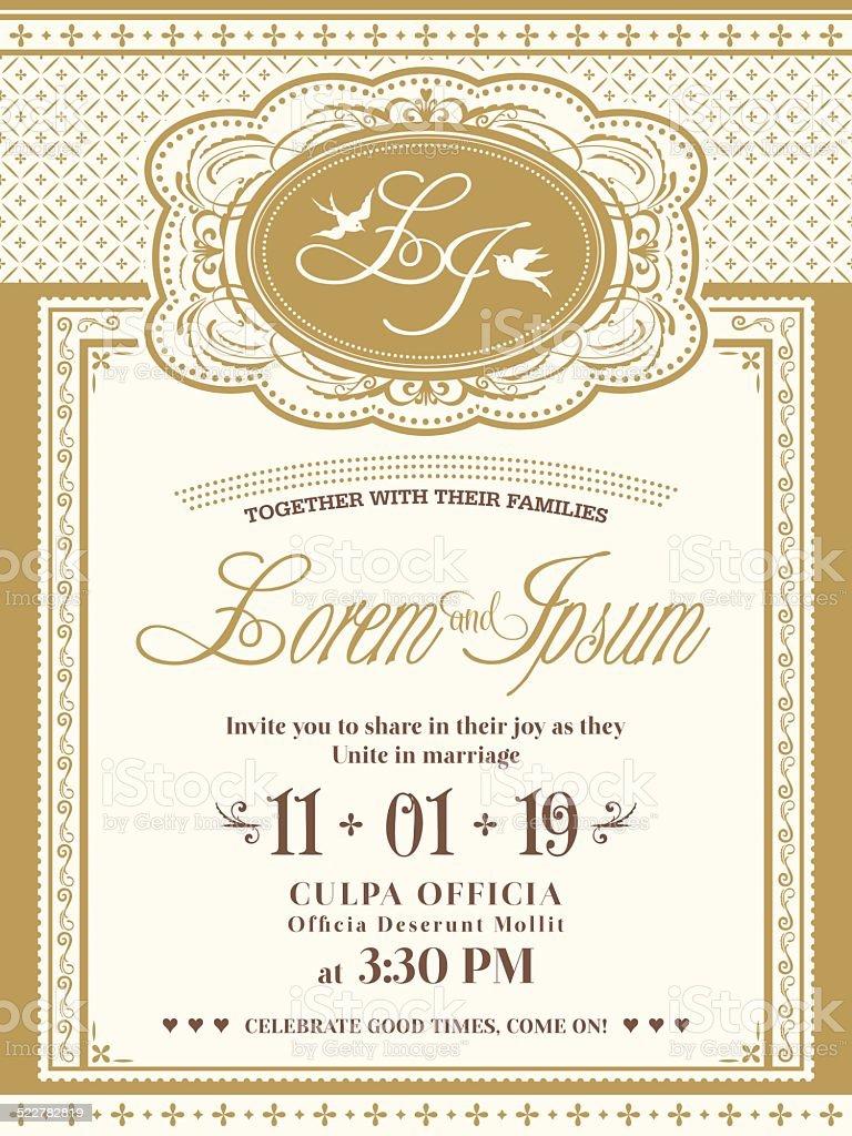 https www istockphoto com vector vintage frame wedding invitation card background gm522782819 50961686