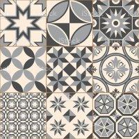 Vintage Gray Mosaic Porcelain Tiles Seamless Pattern stock ...