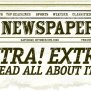 Vintage Newspaper Clipping Design Stock Vector Art More