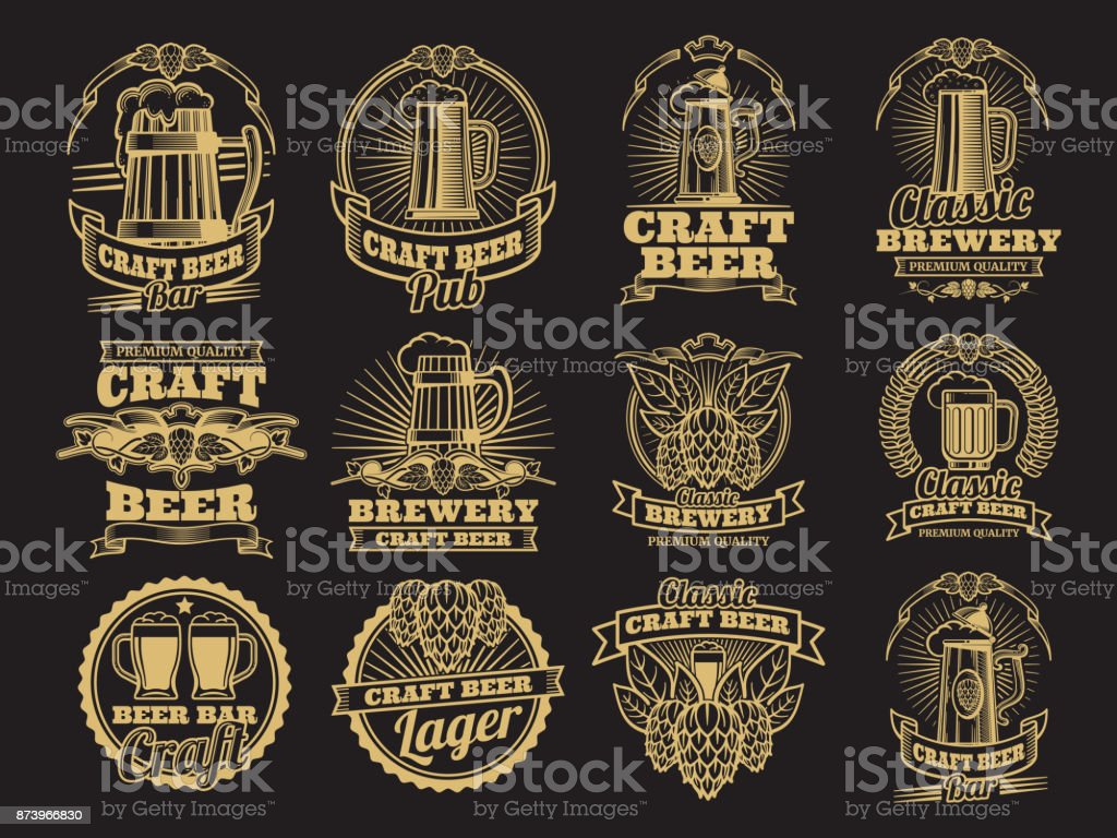 Royalty Free Draft Beers Clip Art, Vector Images