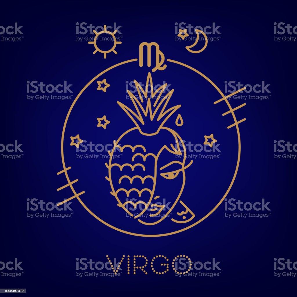 Ilustración De Signo Del Zodiaco Virgo Logo Tatuaje O La Ilustración