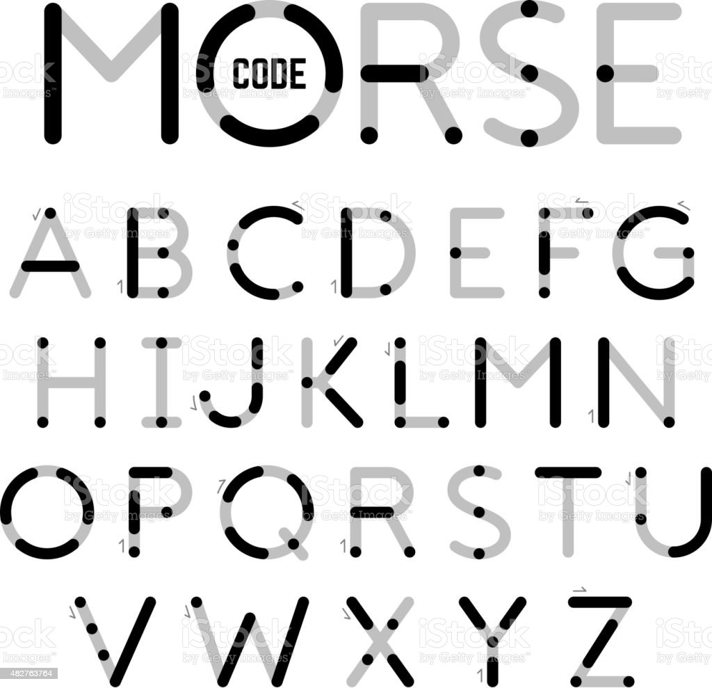 Visual Guide Learning Morse Code Stock Vector Art & More
