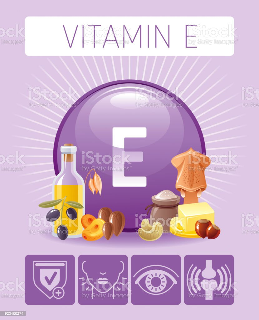 medium resolution of vitamin e tocopherol nutrition food icons healthy eating antioxidant supplement text letter symbol