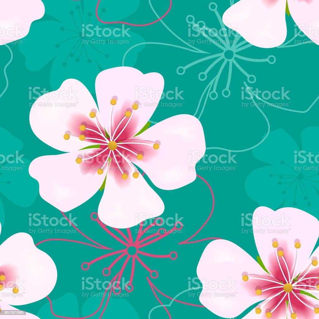 https www istockphoto com fr vectoriel mod c3 a8le sans couture mignon simple fond d c3 a9cran vintage fleurs roses sur le vert gm857301386 141376187