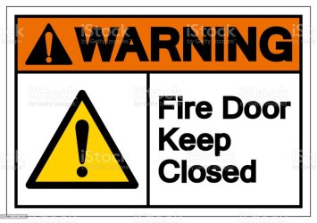 Free download of fire door keep shut sign vector graphics and illustrations