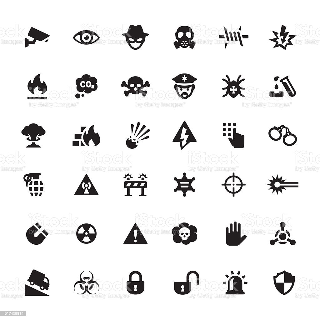 Warning Security Vector Symbols And Icons Stock Vector Art