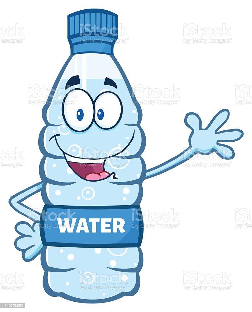royalty free cartoon water bottle