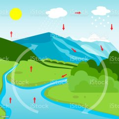 Water Cycle Diagram With Explanation Household Wiring Australia Stock Vector Art And More Images Of