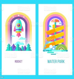 vector clipart royalty free water park hello summer [ 1024 x 1024 Pixel ]