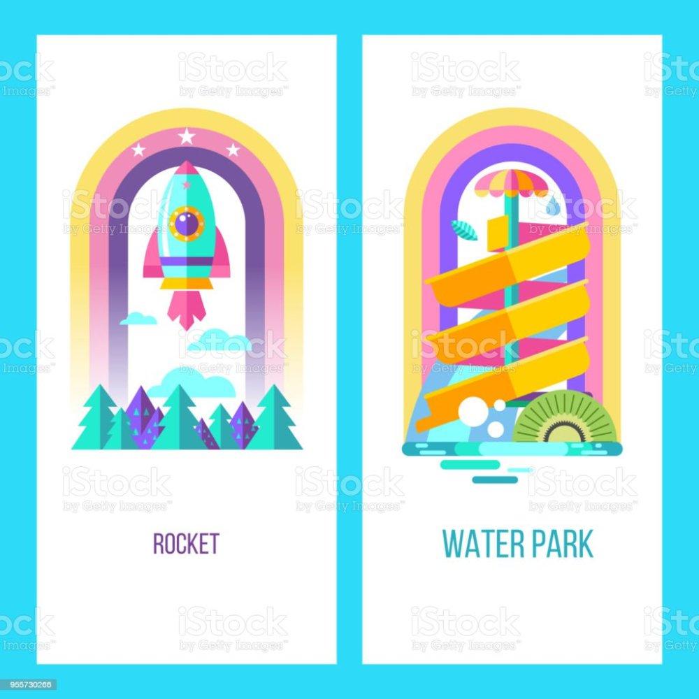 medium resolution of vector clipart royalty free water park hello summer