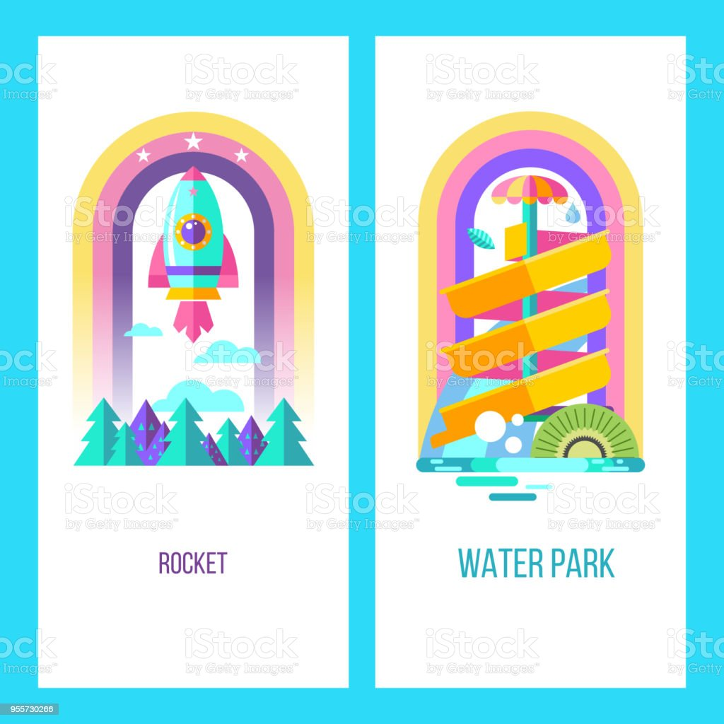hight resolution of vector clipart royalty free water park hello summer