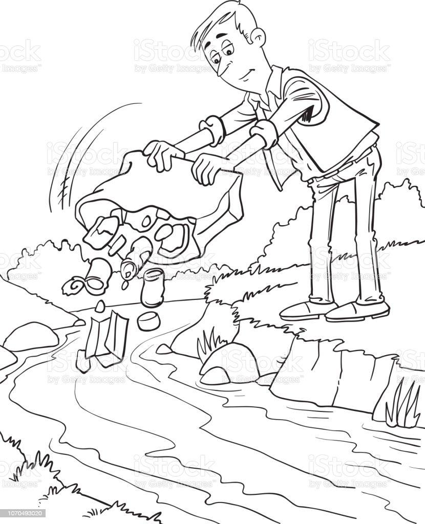 Water Pollution Environment Conceptual Vector Illustration