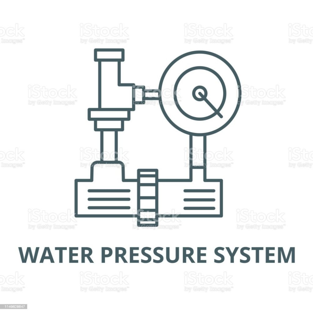 medium resolution of water pressure system hvac industry vector line icon linear concept outline sign