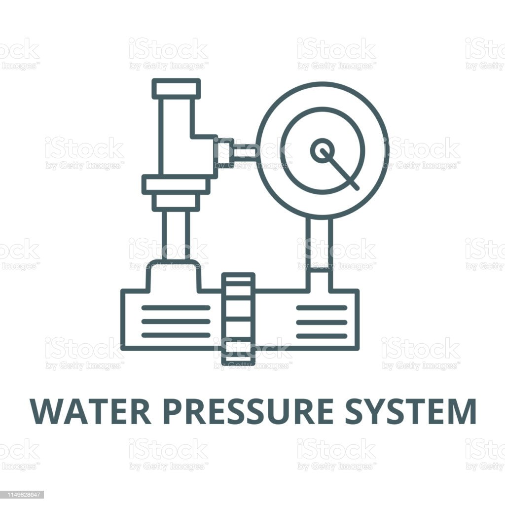 hight resolution of water pressure system hvac industry vector line icon linear concept outline sign