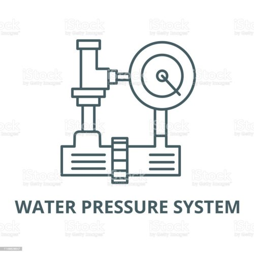 small resolution of water pressure system hvac industry vector line icon linear concept outline sign