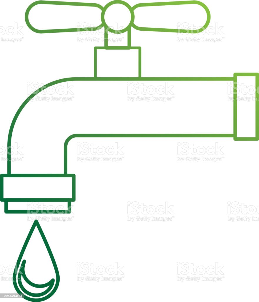 hight resolution of water tap isolated icon illustration
