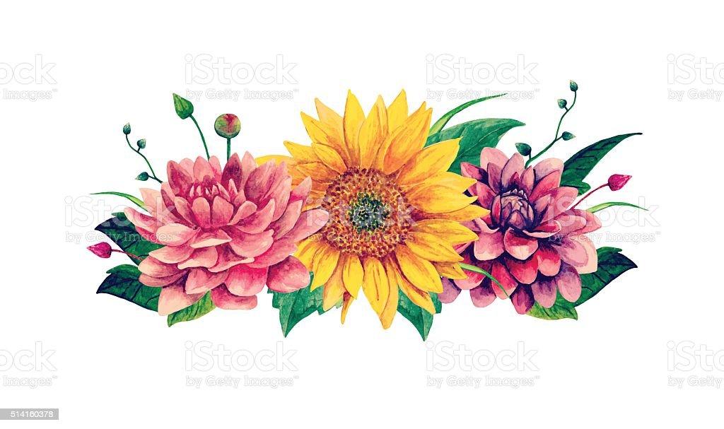 sunflower clip art vector