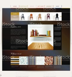 interior home studio layout royalty free website design template interior [ 1024 x 951 Pixel ]
