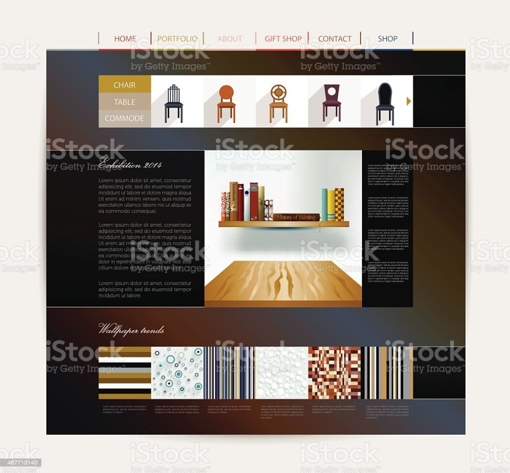 medium resolution of interior home studio layout royalty free website design template interior