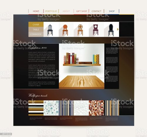 small resolution of interior home studio layout royalty free website design template interior