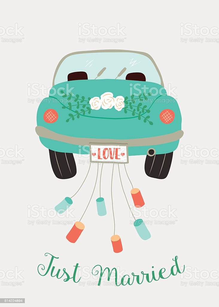 Just Married Auto StockVektoren und Grafiken  iStock