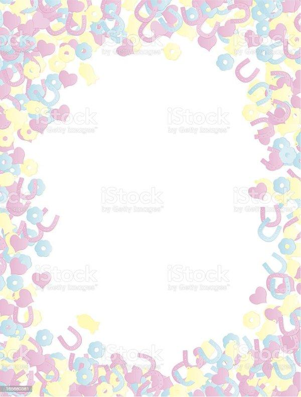 wedding confetti pastel background