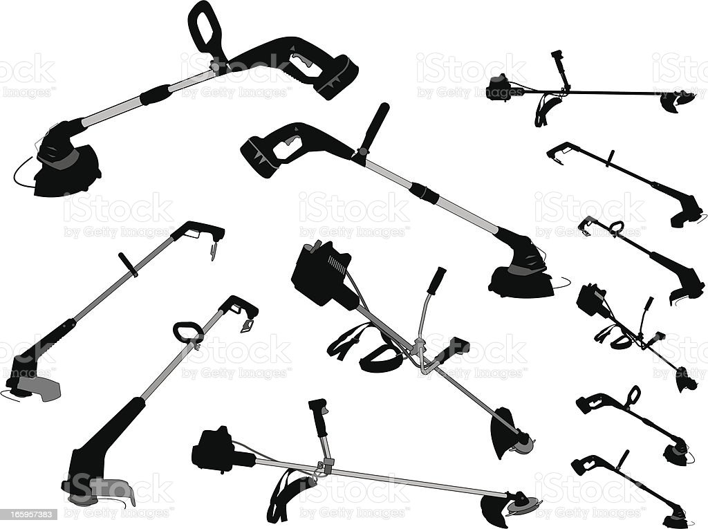 Weedwacker Edger Trimmer Gardening Equipment Stock Vector