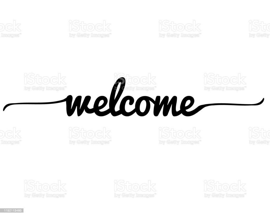 Welcome Letter On White Background Welcome Lettering Text