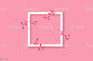White Frame On Festive Pink Background Shining Stars On Light Pink Pastel Background Christmas Wedding Birthday Happy Womans Day Mothers Day Stock Illustration Download Image Now iStock