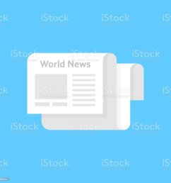 white newspaper icon like world news illustration  [ 1024 x 1024 Pixel ]
