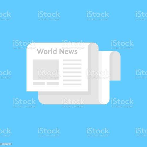 small resolution of white newspaper icon like world news illustration
