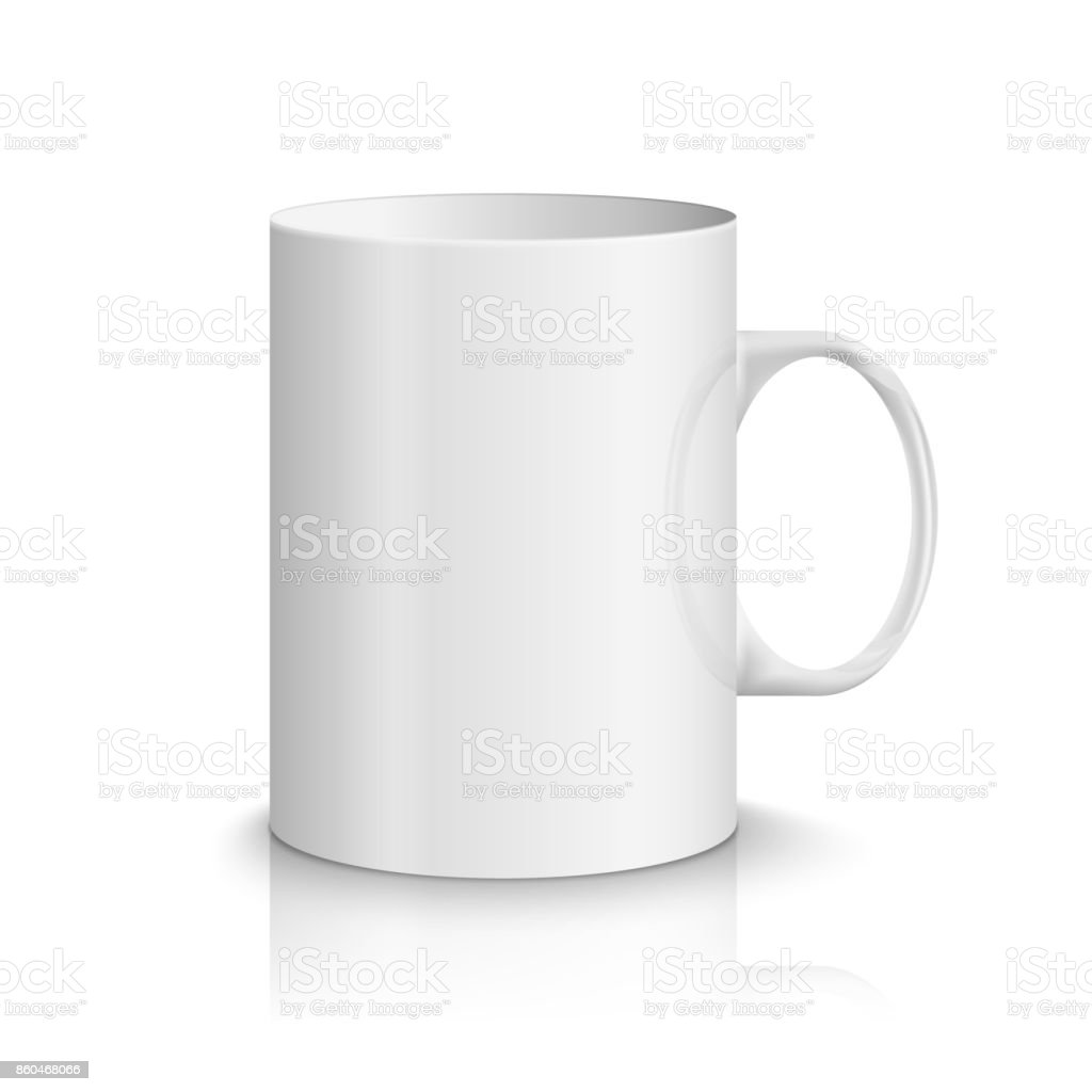 white realistic cup illustration