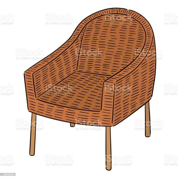 Wicker Chair Stock Vector Art & Of Cartoon