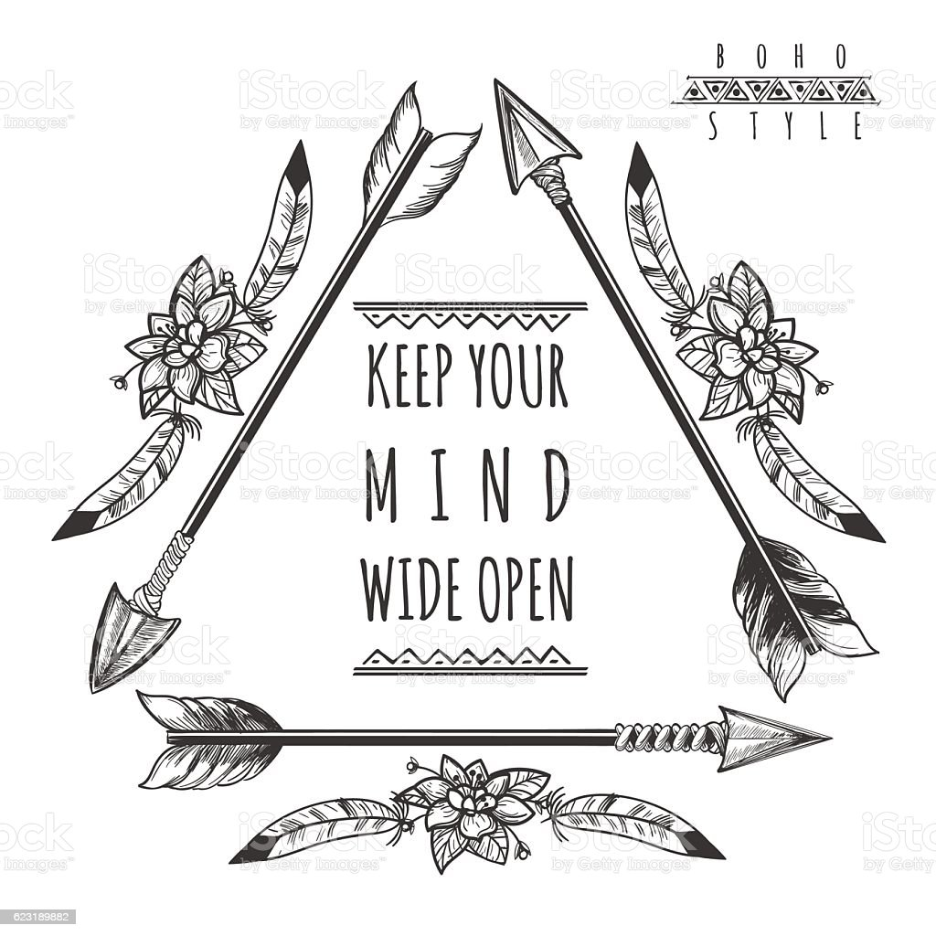 Wild Freedom Background With Arrows Stock Illustration