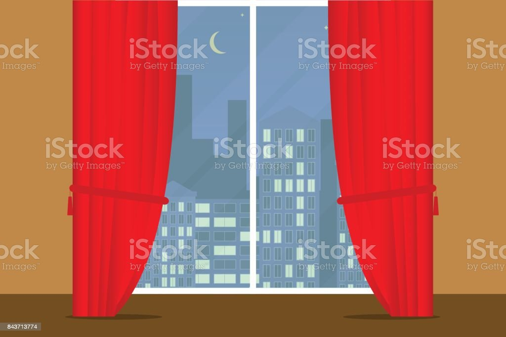 window with curtains curtains