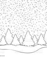 36 Winterlandschaft Zum Ausmalen   Besten Bilder von ...