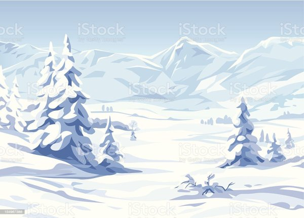 Winter Landscape Stock Vector Art More Images of Beauty