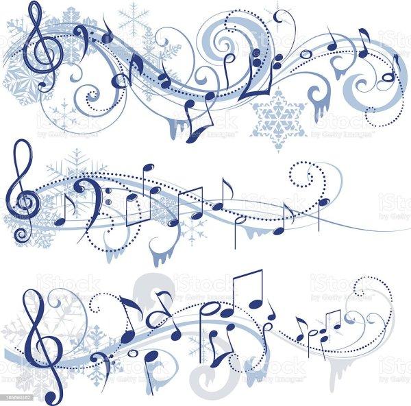 winter music stock vector art 165690462