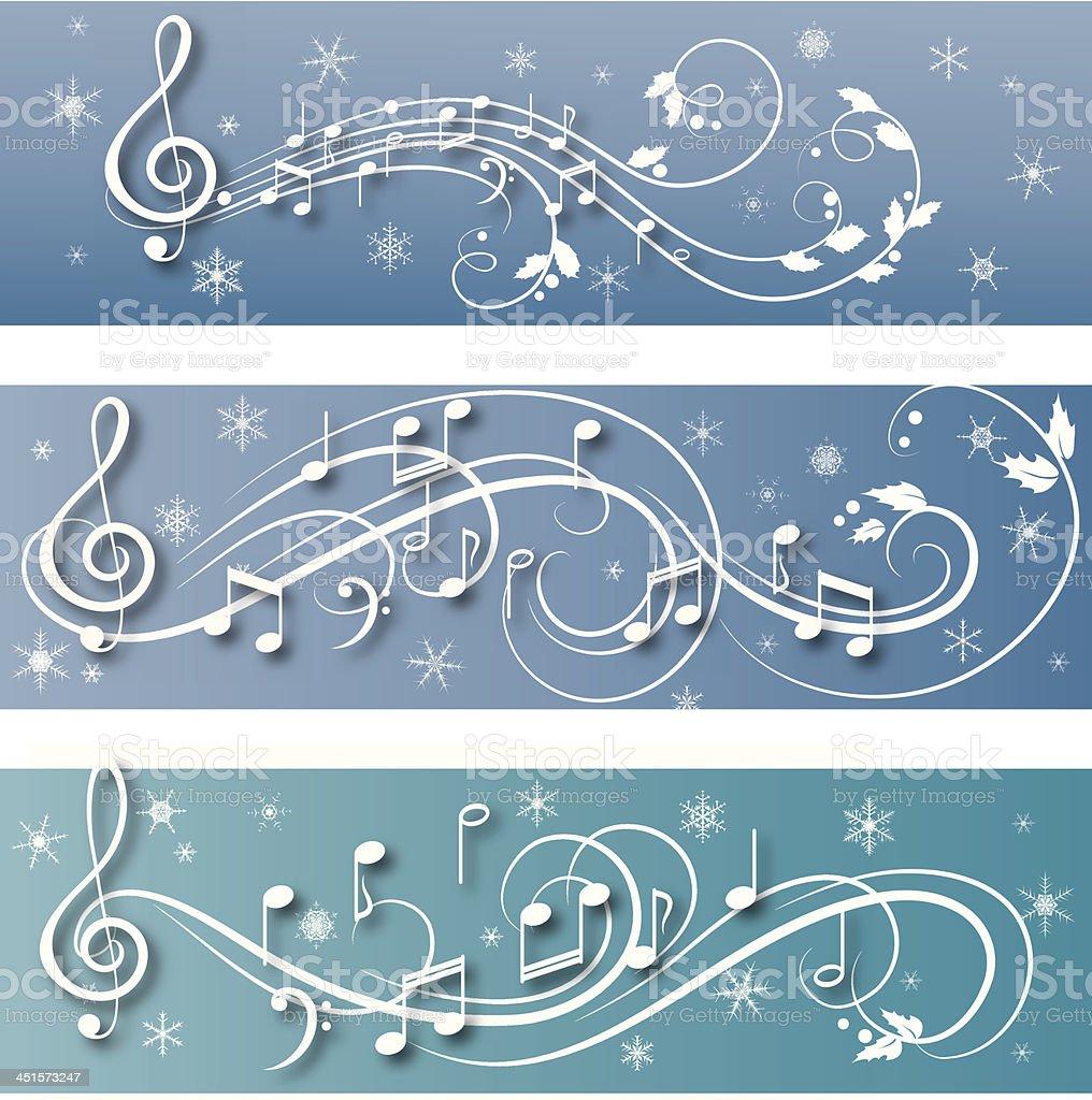 winter music clip art vector