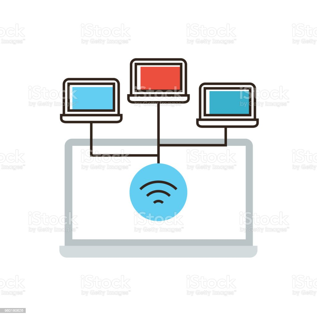 hight resolution of wireless network connection flat line icon concept royalty free wireless network connection flat line icon