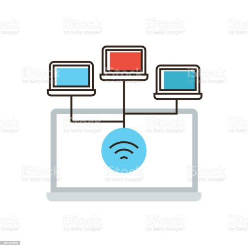 small resolution of wireless network connection flat line icon concept royalty free wireless network connection flat line icon